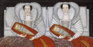 The Cholmondeley Ladies c.1600-10 British School 17th century 1600-1699 Presented anonymously 1955 http://www.tate.org.uk/art/work/T00069